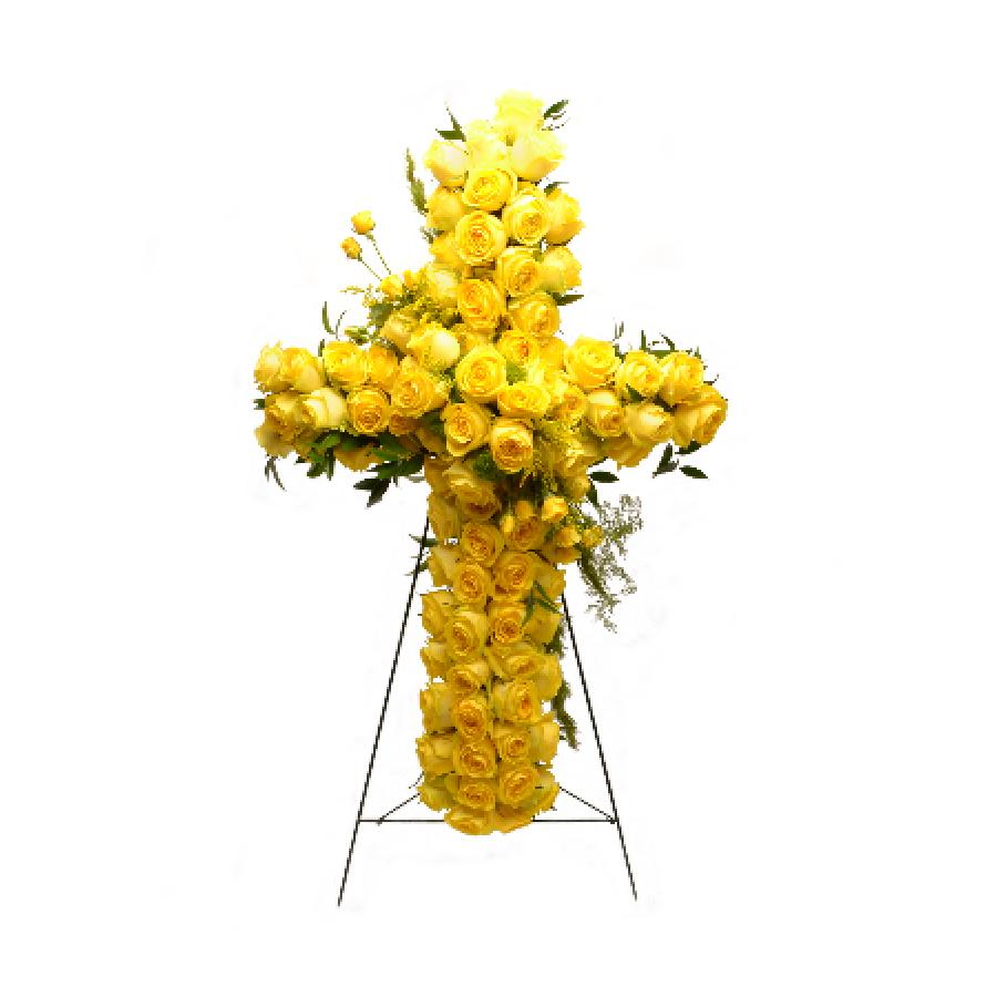 Yellow funeral cross standing yellow funeral cross izmirmasajfo