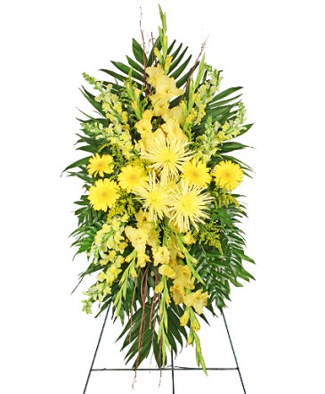 Yellow Funeral Spray