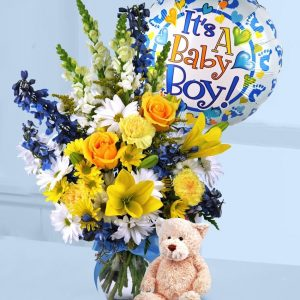 Baby Boy Flower Arrangement