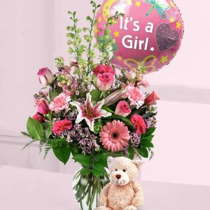 Baby Girl Flower Arrangement