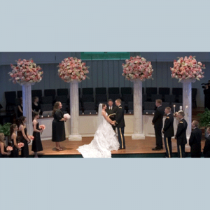 Large Wedding Column Flowers