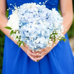 Blue Bridesmaids Bridal Bouquet
