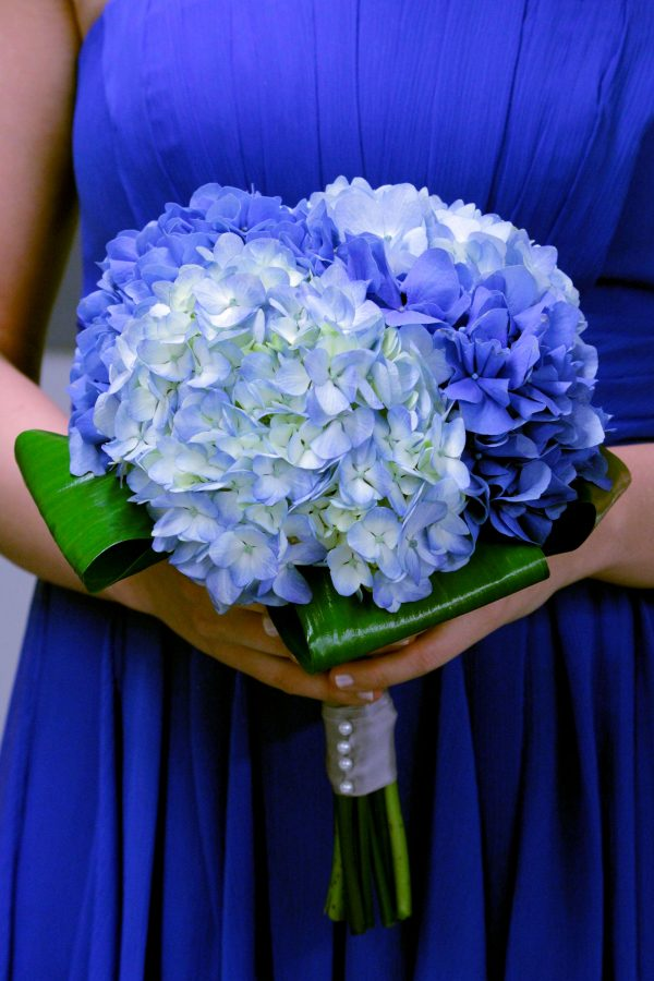 Blue Hydrangea Bridal Bouquet
