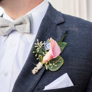 Wedding Groom Cala Lilly Boutonniere
