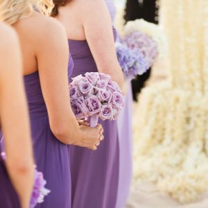Lavender Bridesmaids Bridal Bouquet