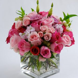 Pink Rose Bridal Center Piece