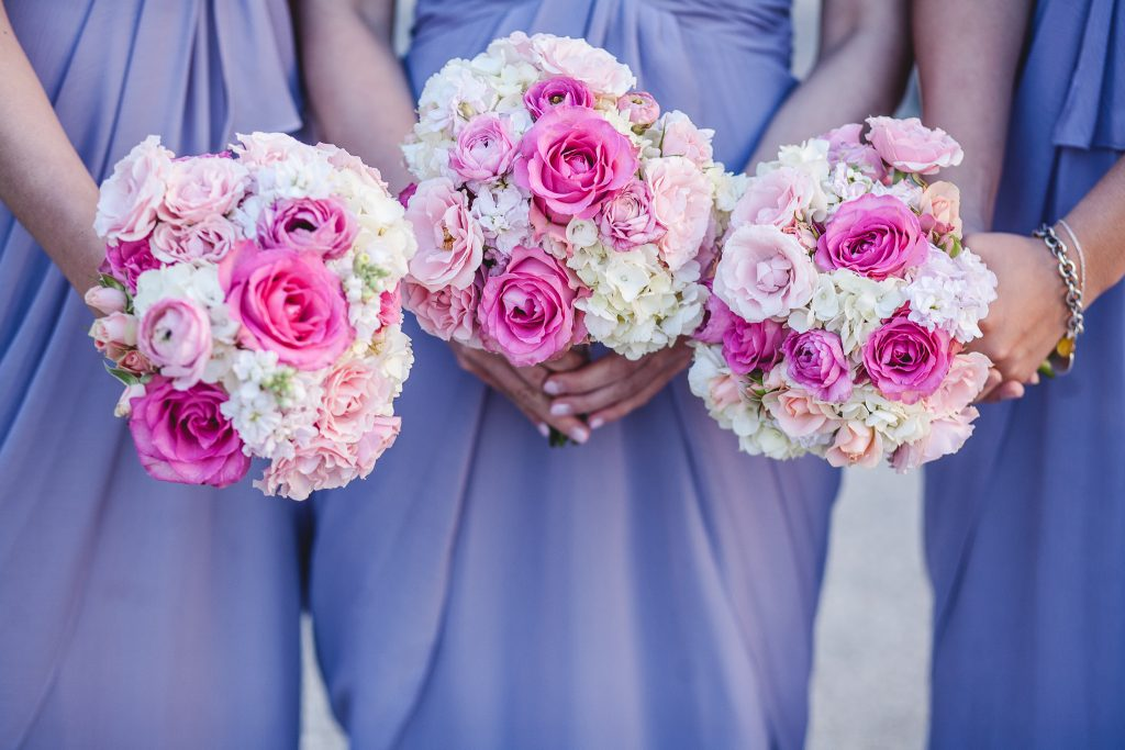 Pink Rose Bridesmaids Bridal Bouquet