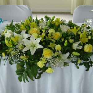 Large Bridal Table Center Piece
