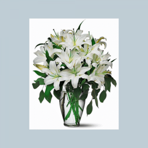 White Lilly Bridal Center Piece