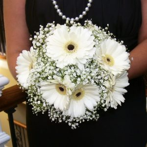 White Bridesmaids Bridal Bouquet