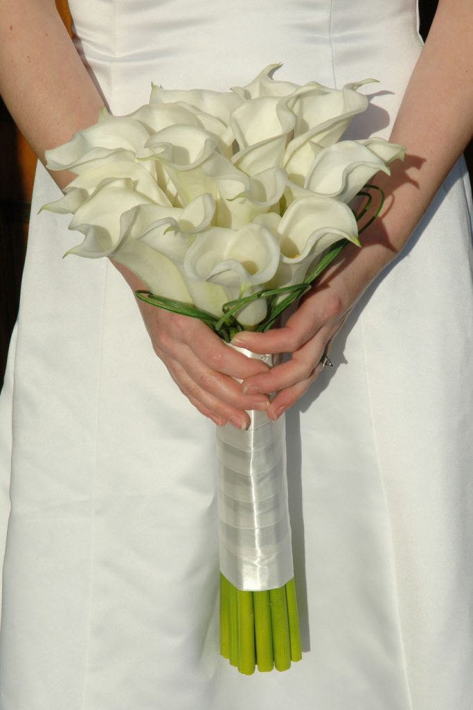 White Cala Lilly Bridal Bouquet