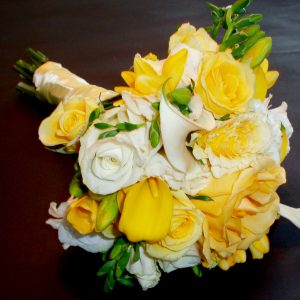 Yellow Rose Bridesmaids Bridal Bouquet